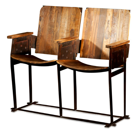 alte kinositze 2 sitzer sitzb nke vintage m bel bei m belhaus hamburg. Black Bedroom Furniture Sets. Home Design Ideas