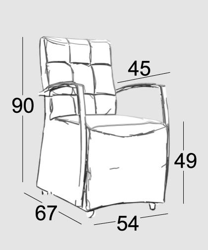 armlehnstuhl gepolstert auf r dern polsterst hle. Black Bedroom Furniture Sets. Home Design Ideas