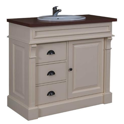 badezimmer schrank wei mit schubladen im landhaus design badezimmer kommoden kommoden. Black Bedroom Furniture Sets. Home Design Ideas