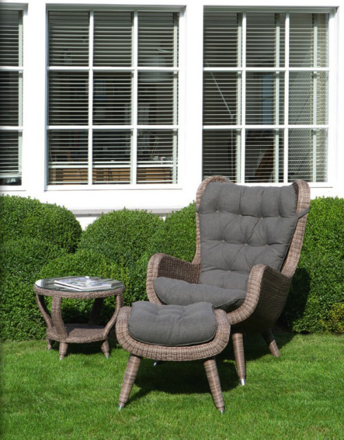 balkon lounge sessel mit kissen f r dem au enbereich gartensessel garten bei m belhaus hamburg. Black Bedroom Furniture Sets. Home Design Ideas