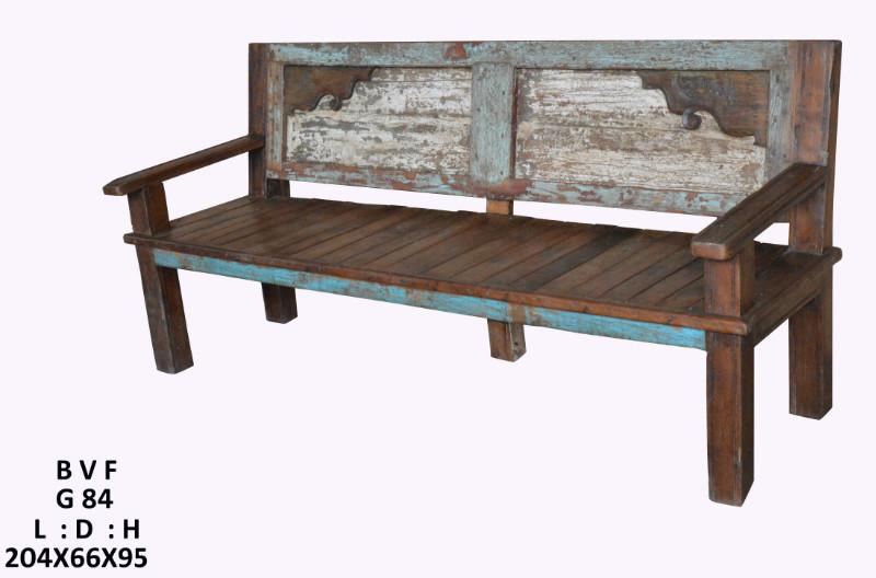 bank aus massivholz shabby chic flur diele wohnbereiche bei m belhaus hamburg. Black Bedroom Furniture Sets. Home Design Ideas