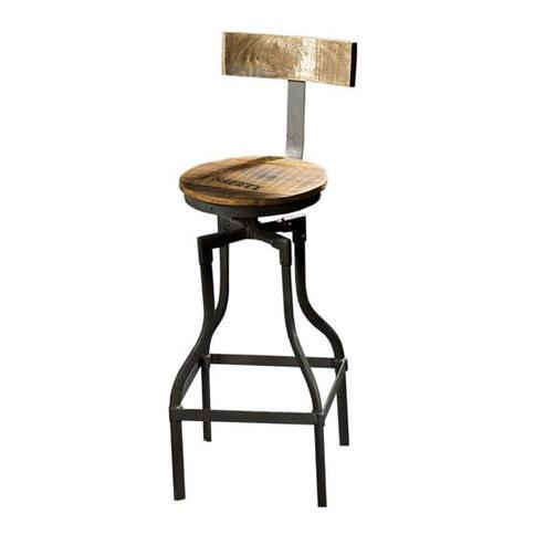 Barhocker im industriellen design aus eisen und holz for Stuhl fabrik design