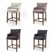 Barhocker Landhaus barhocker mit armlehnen stoff stühle sofas sessel stühle bei