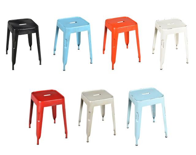 Bistro hocker industrial chic aus eisen st hle for Stuhl fabrik design