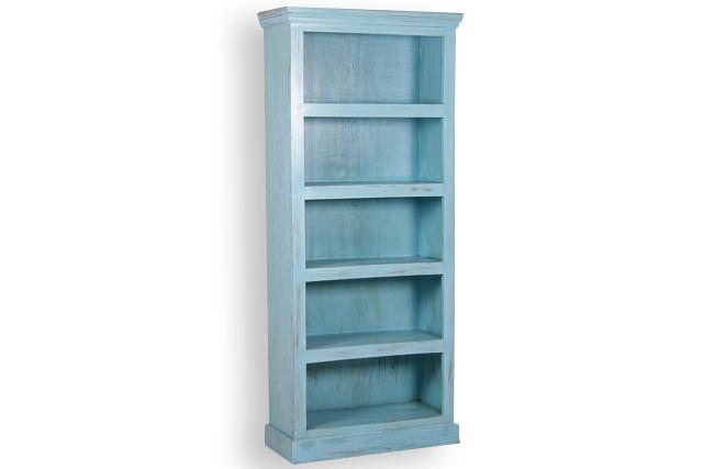 b cherregal blau shabby chic schr nke vintage m bel bei m belhaus hamburg. Black Bedroom Furniture Sets. Home Design Ideas