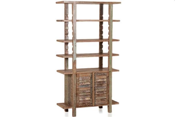Bücherregal mit Türen indische Möbel - Schränke - Vintage Möbel bei ...