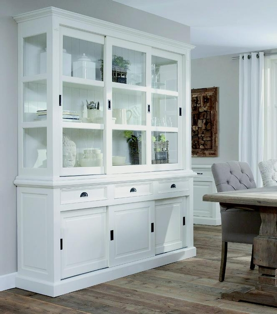 buffetschrank mit schiebet ren landhausstil sale bei. Black Bedroom Furniture Sets. Home Design Ideas