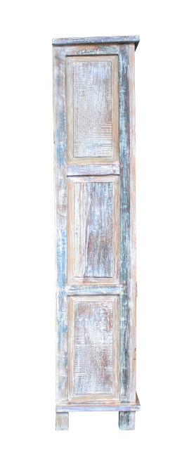bunter schrank aus altem holz shabby schr nke vintage. Black Bedroom Furniture Sets. Home Design Ideas