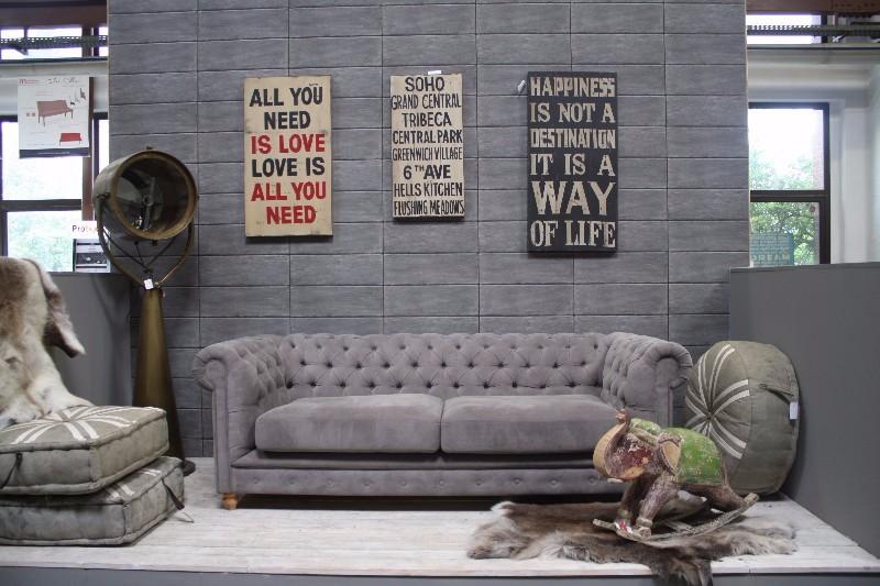Chesterfield Sofa aus Stoff - Sofas, Sessel & Stühle bei Möbelhaus ...