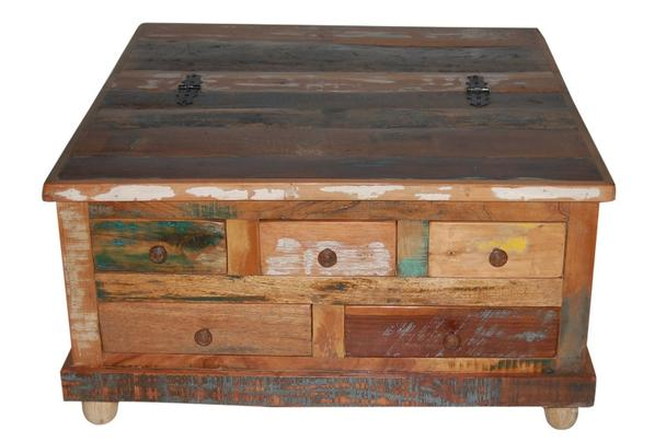 Couchtisch altes Holz mit Schubladen - Tische - Vintage Möbel bei ...