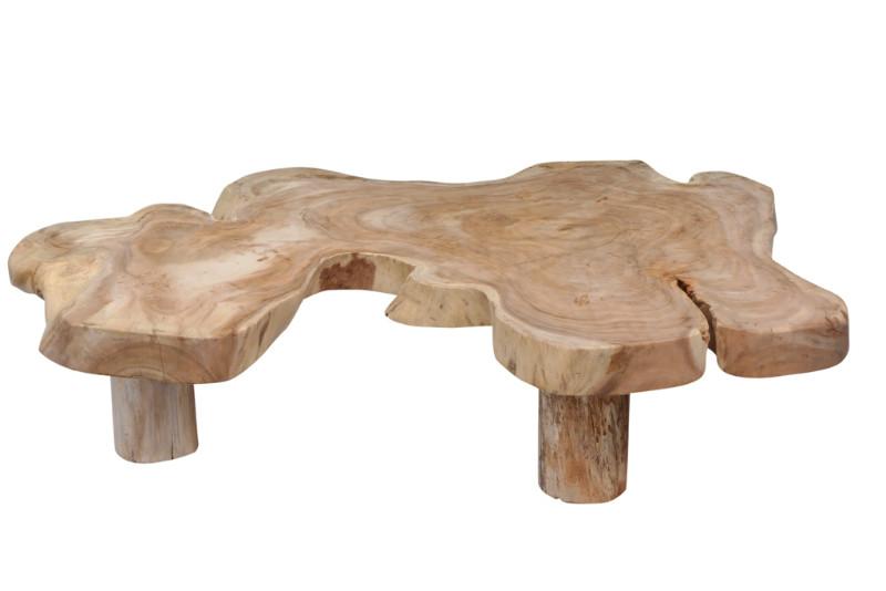 Couchtisch Baumstamm mit Altholzplatte - Tische - Teak Möbel bei ...