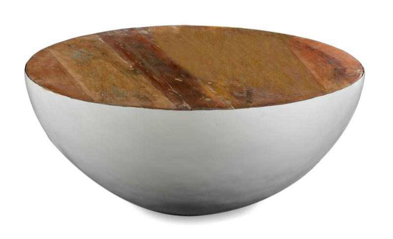 Couchtisch Rund modern mit Altholz  Tische  Möbel bei