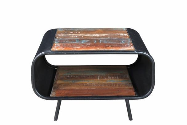 Couchtisch Vintage im Industrie Design mit Holz  -> Couchtisch Holz Industrie