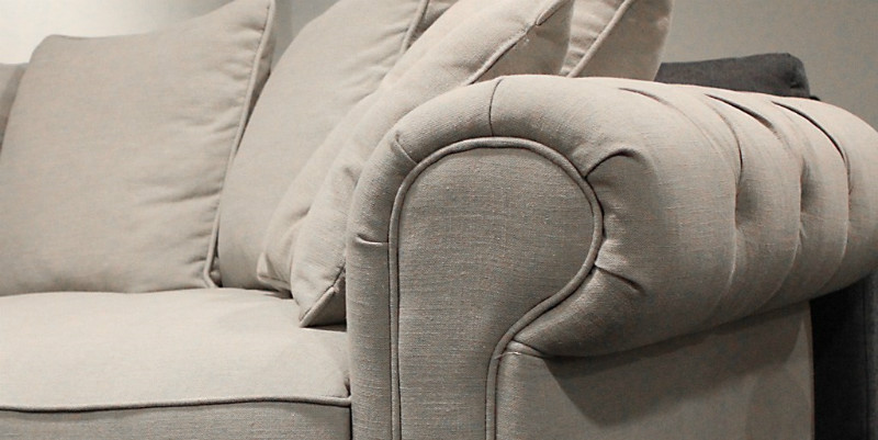 Ecksofa aus Stoff Landhausstil - Sofas, Sessel & Stühle ...