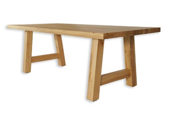 eiche massivholz esstisch eiche beinen tische vintage. Black Bedroom Furniture Sets. Home Design Ideas