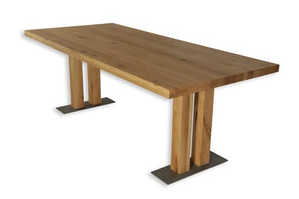 eiche massivholz esstisch mit freier beinwahl tische vintage m bel bei m belhaus hamburg. Black Bedroom Furniture Sets. Home Design Ideas