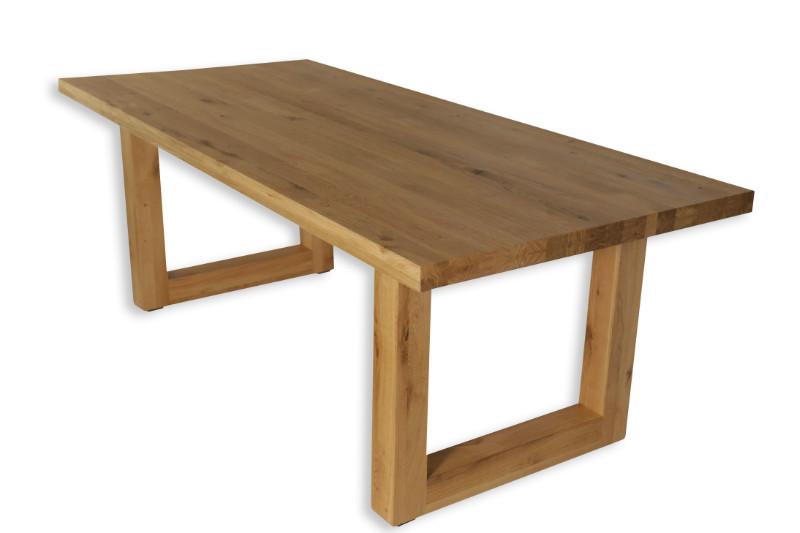 eiche massivholz esstisch mit metalbein tische vintage m bel bei m belhaus hamburg. Black Bedroom Furniture Sets. Home Design Ideas