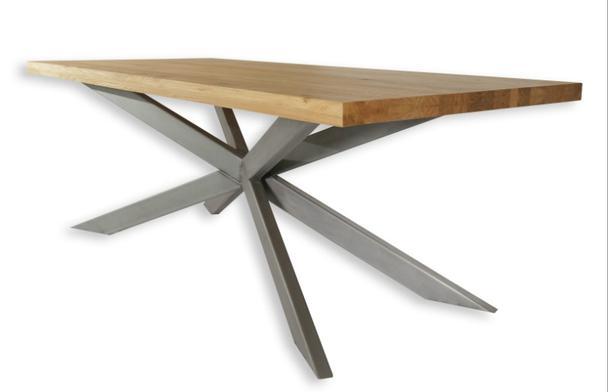 Eiche Massivholz Esstisch Spider Gestell Tische Vintage Mobel