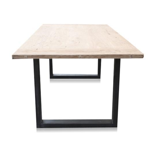 Eiche Massivholz Tisch Mit Eisen Untergestell Tisch Landhausstil