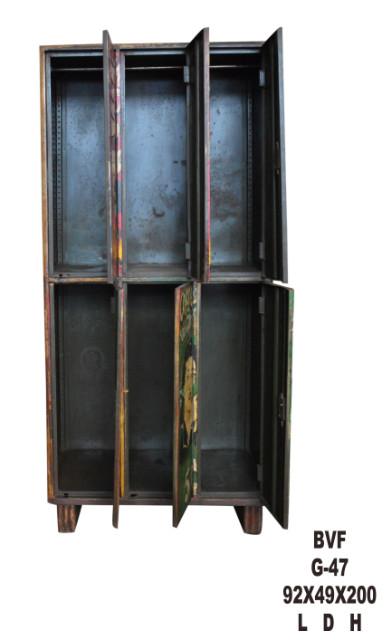 eisen schrank bunt mit print schr nke industrielle m bel bei m belhaus hamburg. Black Bedroom Furniture Sets. Home Design Ideas