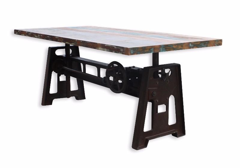 Esstisch Industrial Chic Mit Eisen Untergestell Tisch Industrial
