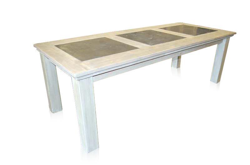 esstisch nach ma aus altem holz mit stein esstische tische bei m belhaus hamburg. Black Bedroom Furniture Sets. Home Design Ideas