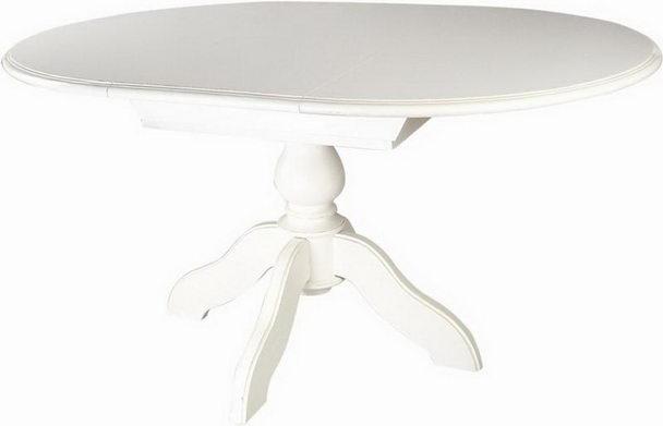 Esstisch weiß rund  Esstisch Rund zum Verlängern weiß - Tische - Landhaus Möbel bei ...