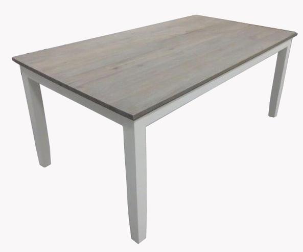 Esstisch Platte Eiche ~ Esstisch weiß mit Eiche Platte  Esstische  Küche  Landhaus Möbel bei Möbel