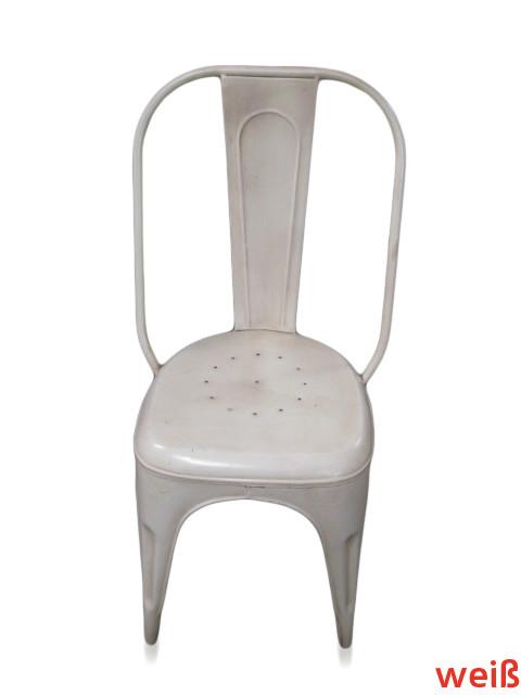 Fabrikschick bistro stuhl aus eisen verschiedene farben for Stuhl fabrik design