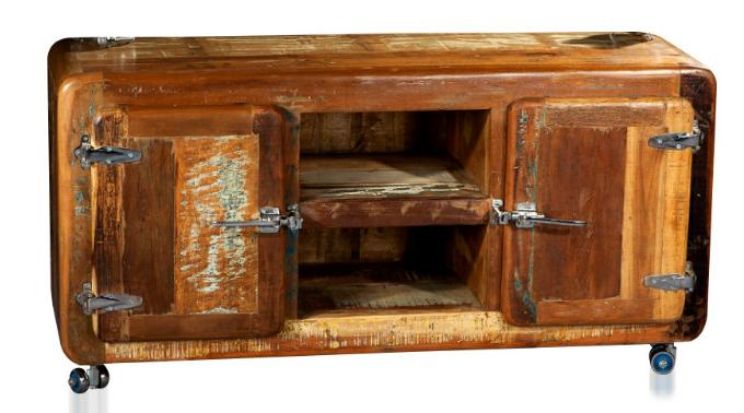 freezer tv sideboard shabby chic kommoden sideboards vintage m bel bei m belhaus hamburg. Black Bedroom Furniture Sets. Home Design Ideas