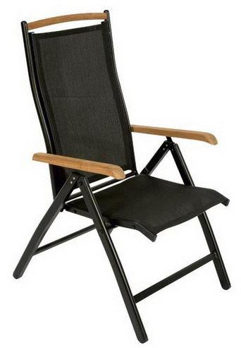 gartenstuhl mit textilbezug in braun oder schwarz zum