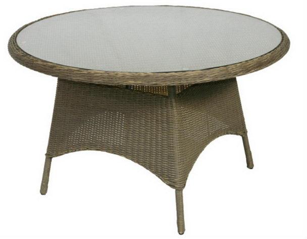 Gartentisch Mit Glasplatte Rund Gartenmobel Polyrattan Bei