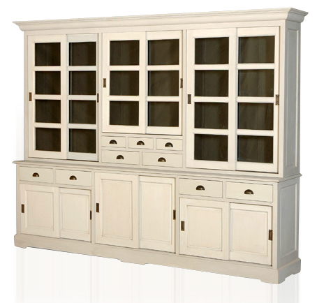 gro er buffetschrank weiss schr nke landhaus m bel bei m belhaus hamburg. Black Bedroom Furniture Sets. Home Design Ideas