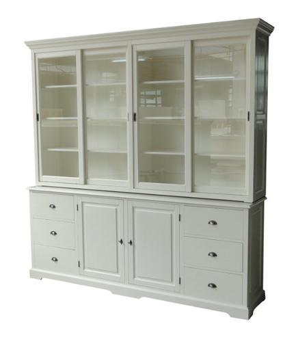 gro er buffetschrank mit schiebet ren landhausstil. Black Bedroom Furniture Sets. Home Design Ideas