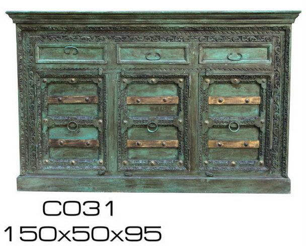 Grün Blaue Kommode Aus Indien Vintage Sideboard Bei Möbelhaus Hamburg