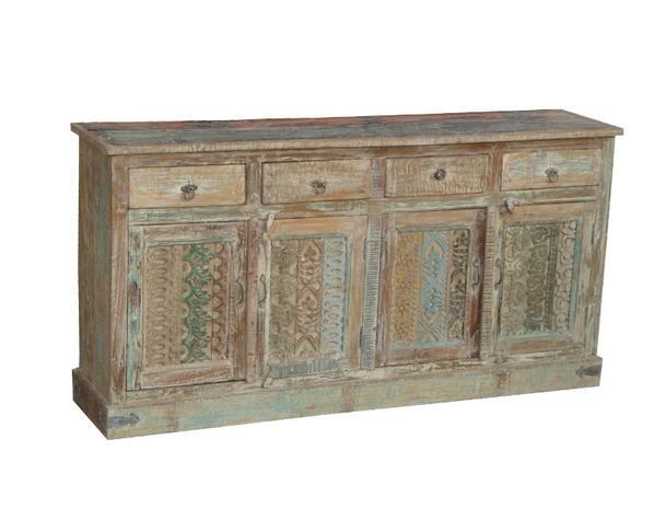 Highboard Indische Möbel Aus Massivholz Vintage Sideboard Bei