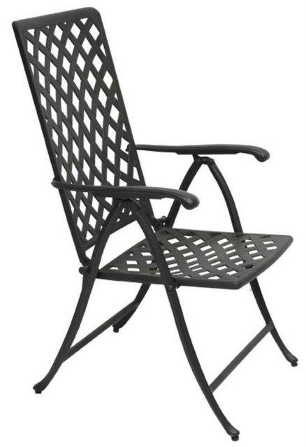 hochlehner mit armlehnen aus aluminiumguz 5 stufig. Black Bedroom Furniture Sets. Home Design Ideas