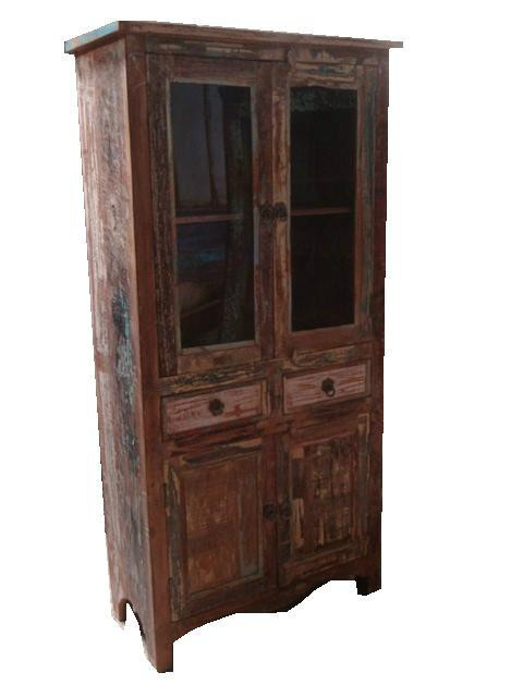 indische vitrine aus altem holz 259115 hh. Black Bedroom Furniture Sets. Home Design Ideas