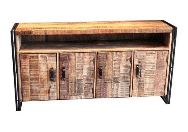 industrial chic sideboard aus altem holz kommoden. Black Bedroom Furniture Sets. Home Design Ideas
