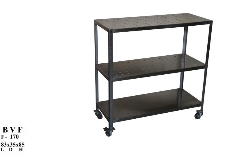 industrial regal auf r dern servierwagen tische industrielle m bel bei m belhaus hamburg. Black Bedroom Furniture Sets. Home Design Ideas