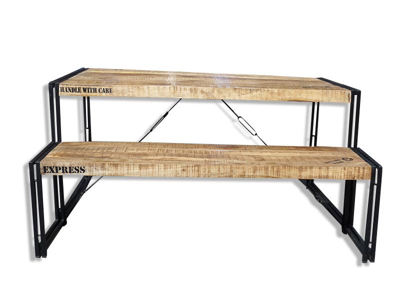 industrieller Esstisch mit Eisen Gestell - Industrial Chic ...