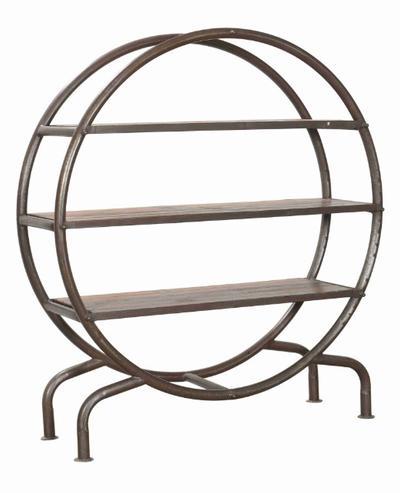industrielles regal aus eisen mit holzregalen industrielle m bel bei m belhaus hamburg. Black Bedroom Furniture Sets. Home Design Ideas