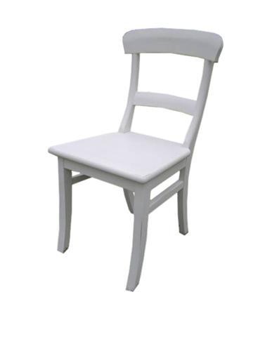 Stühle weiß holz landhaus  Kitchenchair Landhausstuhl aus Holz in weiß - Stühle - Landhaus ...