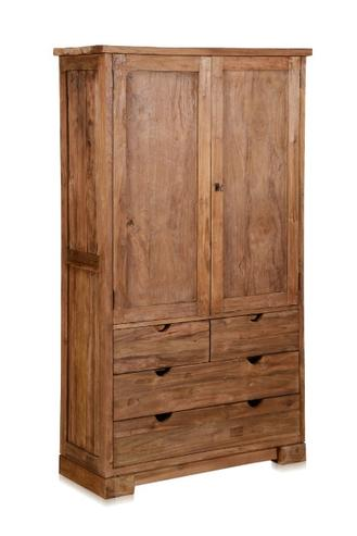 kleiderschrank aus altem teakholz mit schubladen. Black Bedroom Furniture Sets. Home Design Ideas