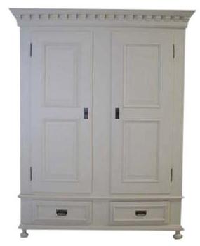 kleiderschrank landhaus 2 t rig massivholz wei schr nke. Black Bedroom Furniture Sets. Home Design Ideas