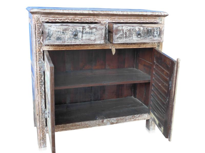Kommode aus altem Holz india Möbel indisch - Vintage Sideboard bei ...