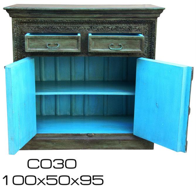 kommode aus indien grun blau 216449 hh. Black Bedroom Furniture Sets. Home Design Ideas