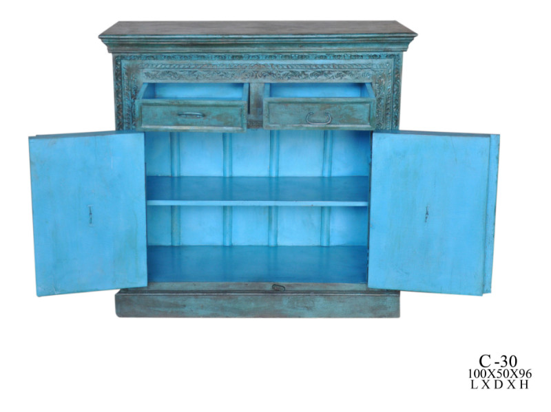 kommode aus indien grun blau 216452 hh. Black Bedroom Furniture Sets. Home Design Ideas