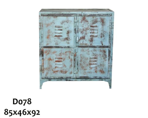 kommode industrial chic aus eisen blau gewischt kommoden sideboards industrielle m bel bei. Black Bedroom Furniture Sets. Home Design Ideas