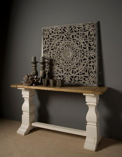 konsolentisch massivholz landhausstil altholz vintage. Black Bedroom Furniture Sets. Home Design Ideas
